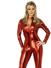 deguisement rouge Catsuit de Mlle-tress