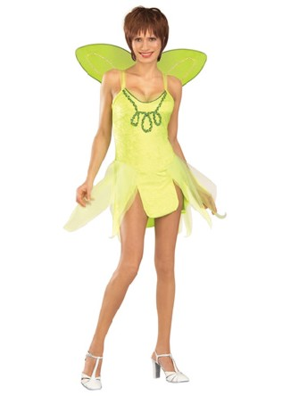 costume d 39 adulte de tinkerbell deguisement disney. Black Bedroom Furniture Sets. Home Design Ideas