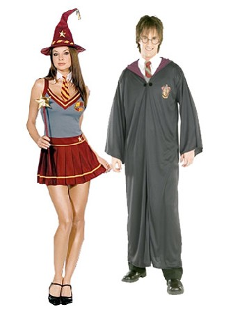 Couples d 39 acad mie de magicien deguisement halloween - Deguisement couple halloween ...