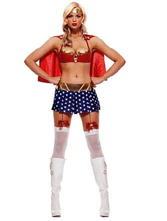 fille de la justice 4pc deguisement super hros - Super Heros Fille